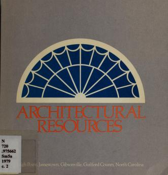 Cover of: Architectural resources by H. McKelden Smith