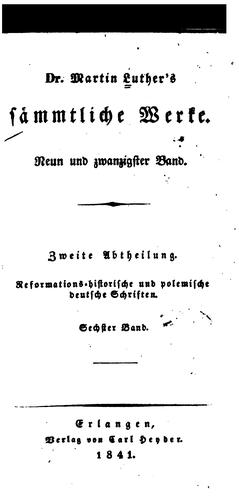 Download Dr. Martin Luther's sämmtliche Werke