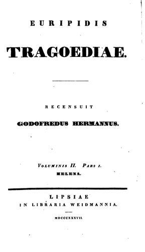 Euripidis Tragoediae