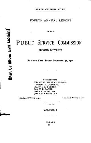 Annual Report of the Public Service Commission, Second District