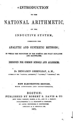 Introduction to the National Arithmetic on the Inductive System: Combining the Analytic and …