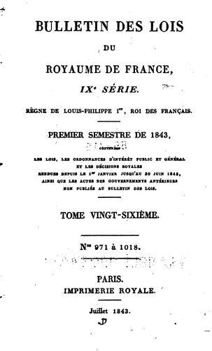 Bulletin des lois