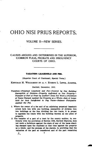 The Ohio Nisi Prius Reports