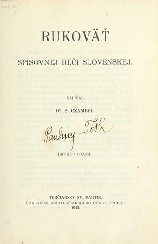 Download Rukovät' spisovnej rei slovenskej.