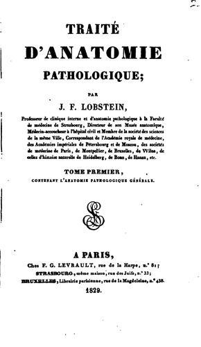 Traité d'anatomie pathologique