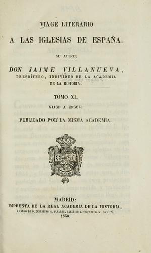 Download Viage literario a las iglesias de Espana.