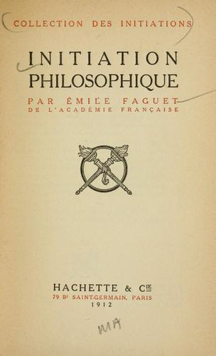 Download Initiation philosophique