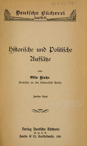 Download Historische und politische Aufsätze.