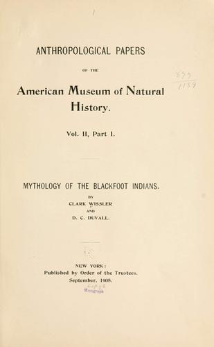 Download Mythology of the Blackfoot Indians.