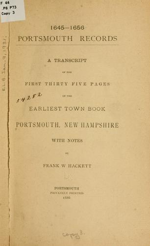 Download 1645-1656. Portsmouth records.