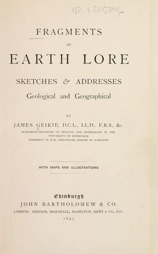 Download Fragments of earth lore.