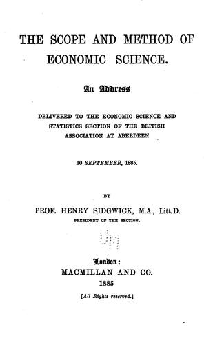 Download The scope and method of economic science.