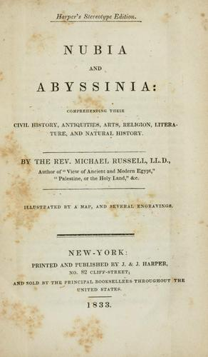 Download Nubia and Abyssinia