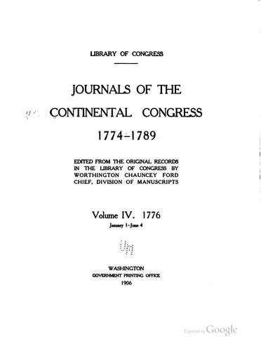 Download Journals of the Continental Congress