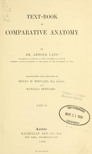 Download Text-book of comparative anatomy