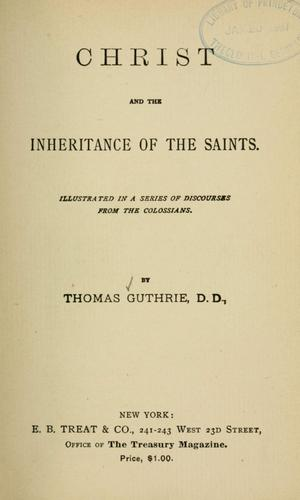 Christ and the inheritance of the saints
