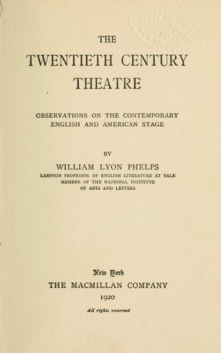 Download The twentieth century theatre