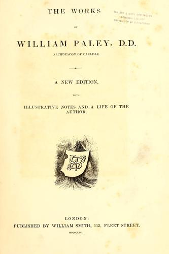 Download The works of William Paley