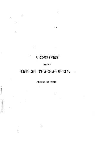 A companion to the British pharmacopœia