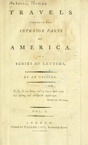 Download Travels through the interior parts of America