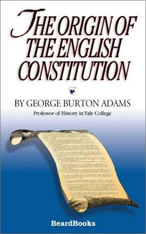 Download The Origin of the English Constitution