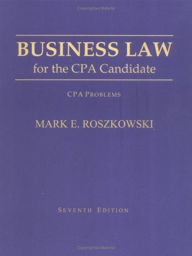 Business Law for the CPA Candidate
