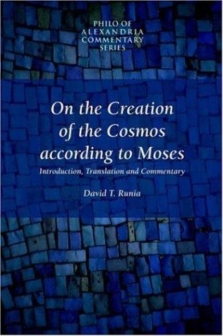 Download On the creation of the cosmos according to Moses