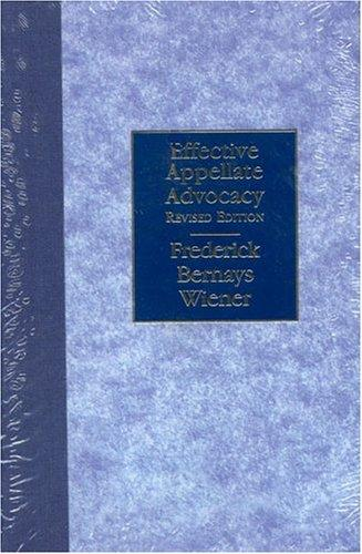 Download Effective appellate advocacy
