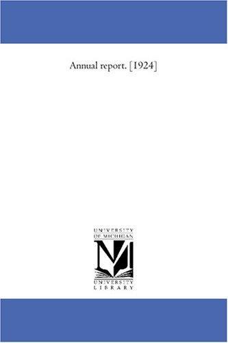 Annual report. 1924