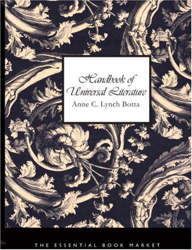 Handbook of Universal Literature (Large Print Edition)