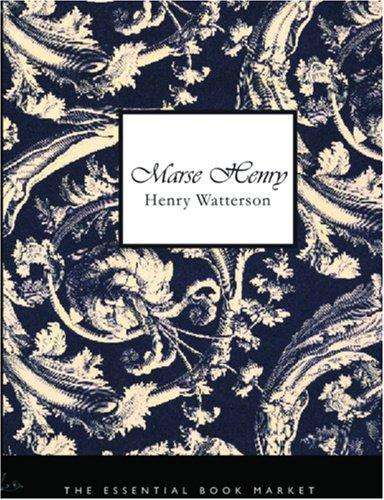 Marse Henry (Large Print Edition)