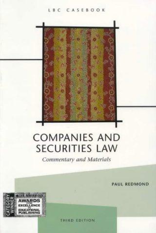 Companies and securities law