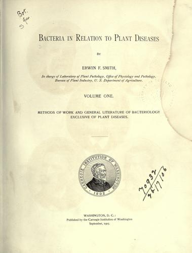Download Bacteria in relation to plant diseases.