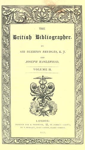 Download The British bibliographer.