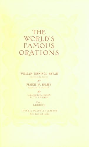 Download The world's famous orations.