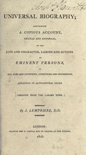 Universal biography