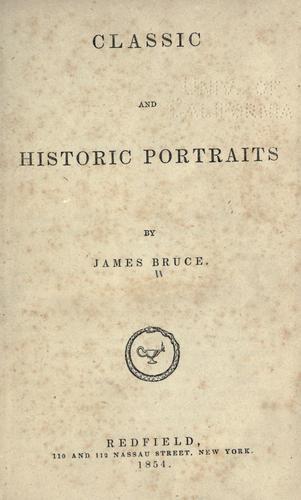 Classic and historic portraits