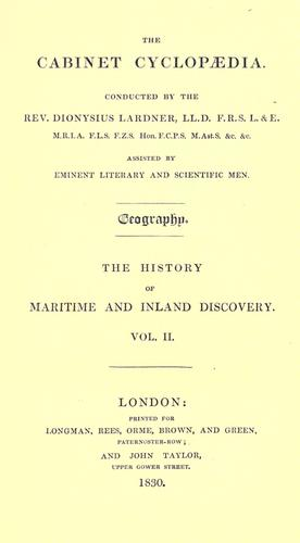 Download The history of maritime and inland discovery.