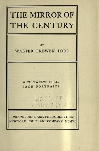 The mirror of the century