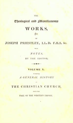 Download The theological and miscellaneous works of Joseph Priestley