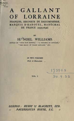 A gallant of Lorraine