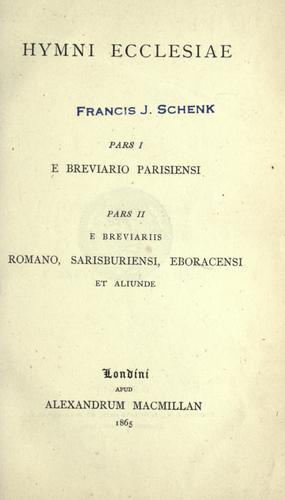 Hymni ecclesiae.