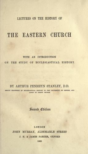 Download Lectures on the history of the Eastern Church