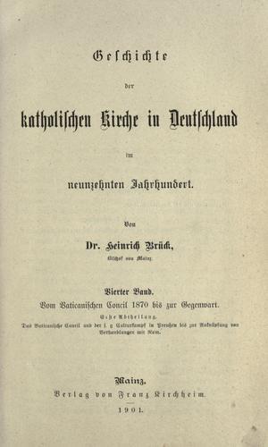 Geschichte der katholischen Kirche in Deutschland im neunzehnten Jahrhundert
