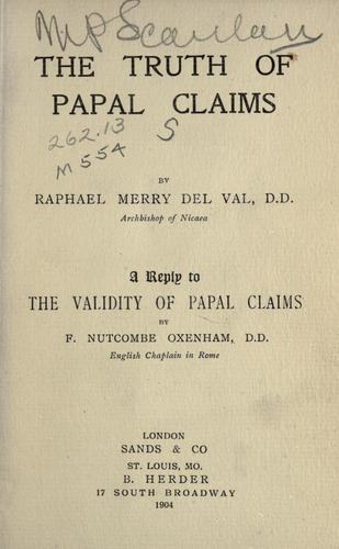 Download The truth of papal claims