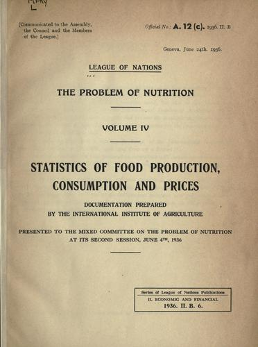 The problem of nutrition …