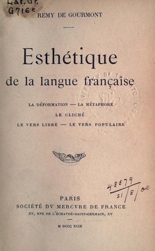 Download Esthétique de la langue française