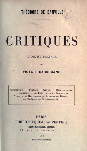 Critiques.