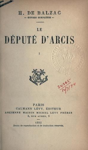 Download Le député d'Arcis.