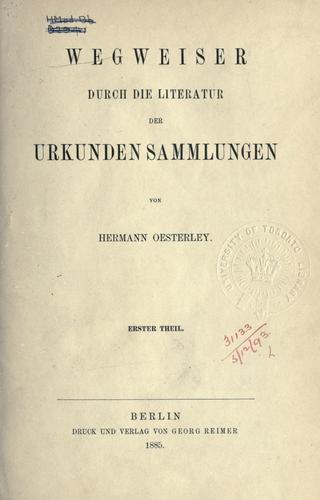 Download Wegweiser durch die Literatur der Urkundensammlungen.